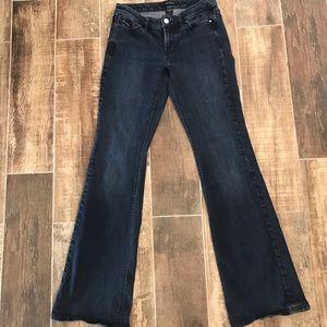 White House Black Market contour flare jeans